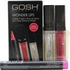 GOSH Wonder Lips Gift Set 2.5ml Long Lasting Lip Marker - 002 Pink + 2 x 6 ml Light'n Shine Lip Glaze - 01 & 08