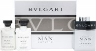 Bvlgari Man Extreme Gift Set 60ml EDT Spray + 40ml Aftershave Balm + 40ml Shampoo and Shower Gel