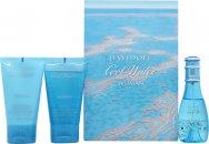 Davidoff Cool Water Woman Gift Set 30ml EDT + 50ml Shower Breeze + 50ml Body Lotion