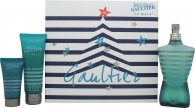 Jean Paul Gaultier Le Male Gift Set 125ml EDT Spray + 75ml Shower Gel + 30ml Aftershave Balm