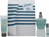 Jean Paul Gaultier Le Beau Male Gift Set 125ml EDT Spray + 75ml Shower Gel + 9ml EDT