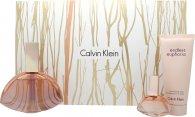 Calvin Klein Endless Euphoria Gift Set 125ml EDP Spray + 15ml EDP + 100ml Body Lotion