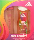 Adidas Get Ready! For Her Gift Set 75ml EDT + 250ml Shower Gel