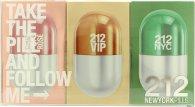 Carolina Herrera 212 Women New York Pills Gift Set 20ml 212 Femme EDT + 20ml 212 Vip EDP + 20ml 212 Vip Rose EDP