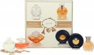 Lancome Precious Collection Miniatures Gift Set 7ml Cacharel Noa + 7.5ml Lancome Tresor + 4ml Ralph Lauren Safari + 4.8ml Paloma Picasso + Charm Bracelet