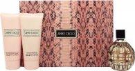 Jimmy Choo Gift Set 100ml EDP + 100ml Body Lotion + 100ml Shower Gel